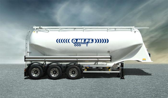 Полуприцеп цистерна для сыпучих грузов O.ME.P.S. CM 39 ADR (39 м3)