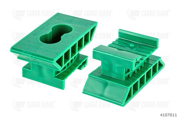 Пластиковые направляющие H44 pos. point, 2 отв. 6,5 мм (зеленые)