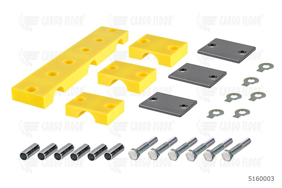 Направляющие штоков цилиндра Cargo Floor (желтые) комплект