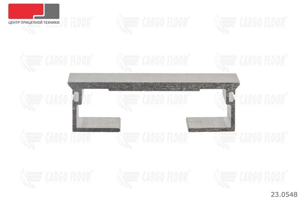 Алюминиевый профиль DS, 6/112/13300 мм. с пазом для силиконового уплотнителя