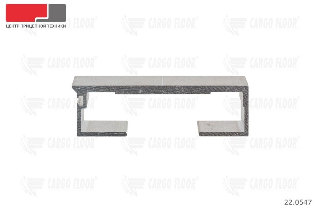 Алюминиевый профиль 6/112/13300 мм. с пазом для силиконового уплотнителя