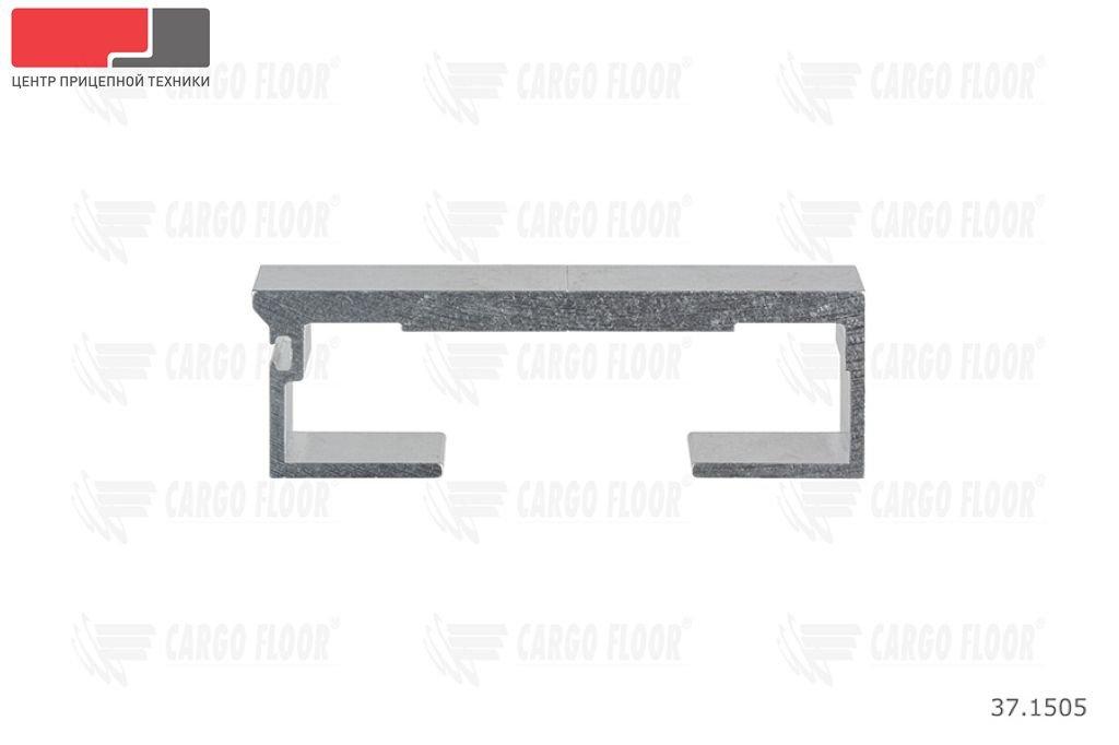 Алюминиевый профиль 8/112/13300 мм. (Гладкий) с пазом для силиконового уплотнителя