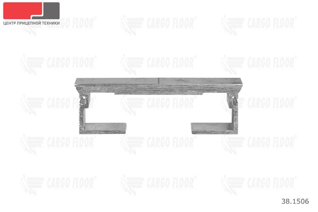 Алюминиевый профиль 8/112/13300 мм. (Гладкий) с пазами для силиконового уплотнителя