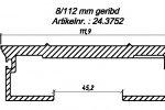 Алюминиевый профиль 8/112/13300 мм. с пазом для силиконового уплотнителя