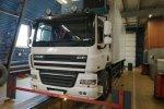 Регулировка углов установки колес (схождение) грузовых автомобилей и полуприцепов на электронном стенде JOSAM